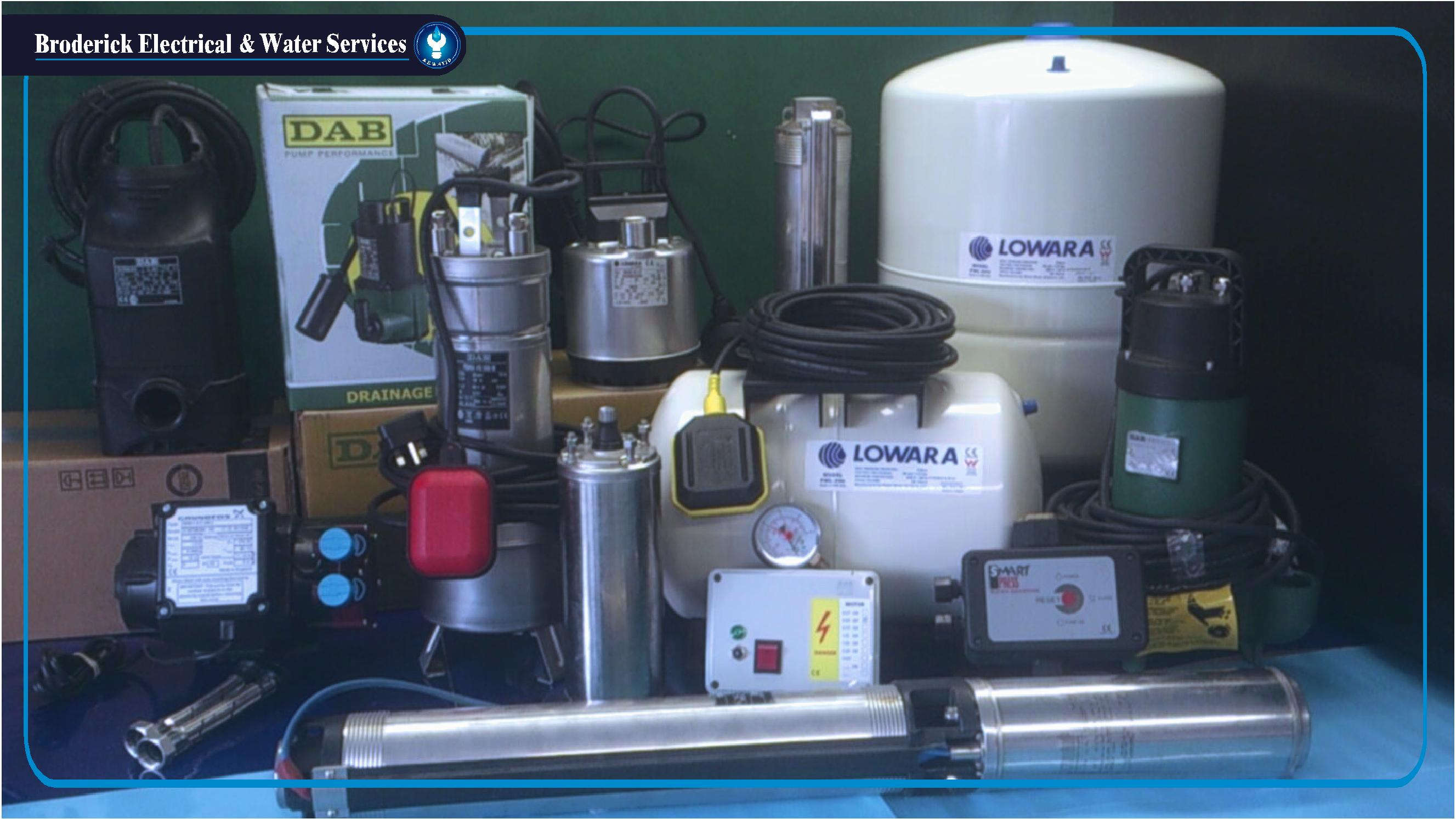 Water Pumps Products - www broderickwater ie
